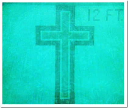 Cross in Pool